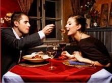 Романтический ужин на двоих ко дню Влюбленных