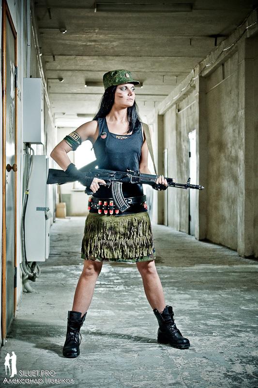 Вы просматриваете изображения у материала: Фотосет: Military Woman, фотограф Александр Новиков - часть2
