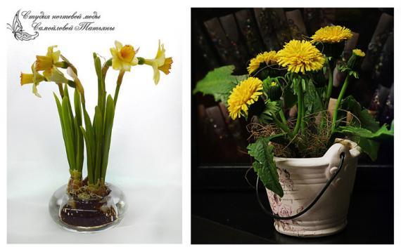 цветы из полимерной глины копия